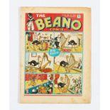 Beano No 28 (1939). Bright cover colours, light tan pages with some small tears to front cover