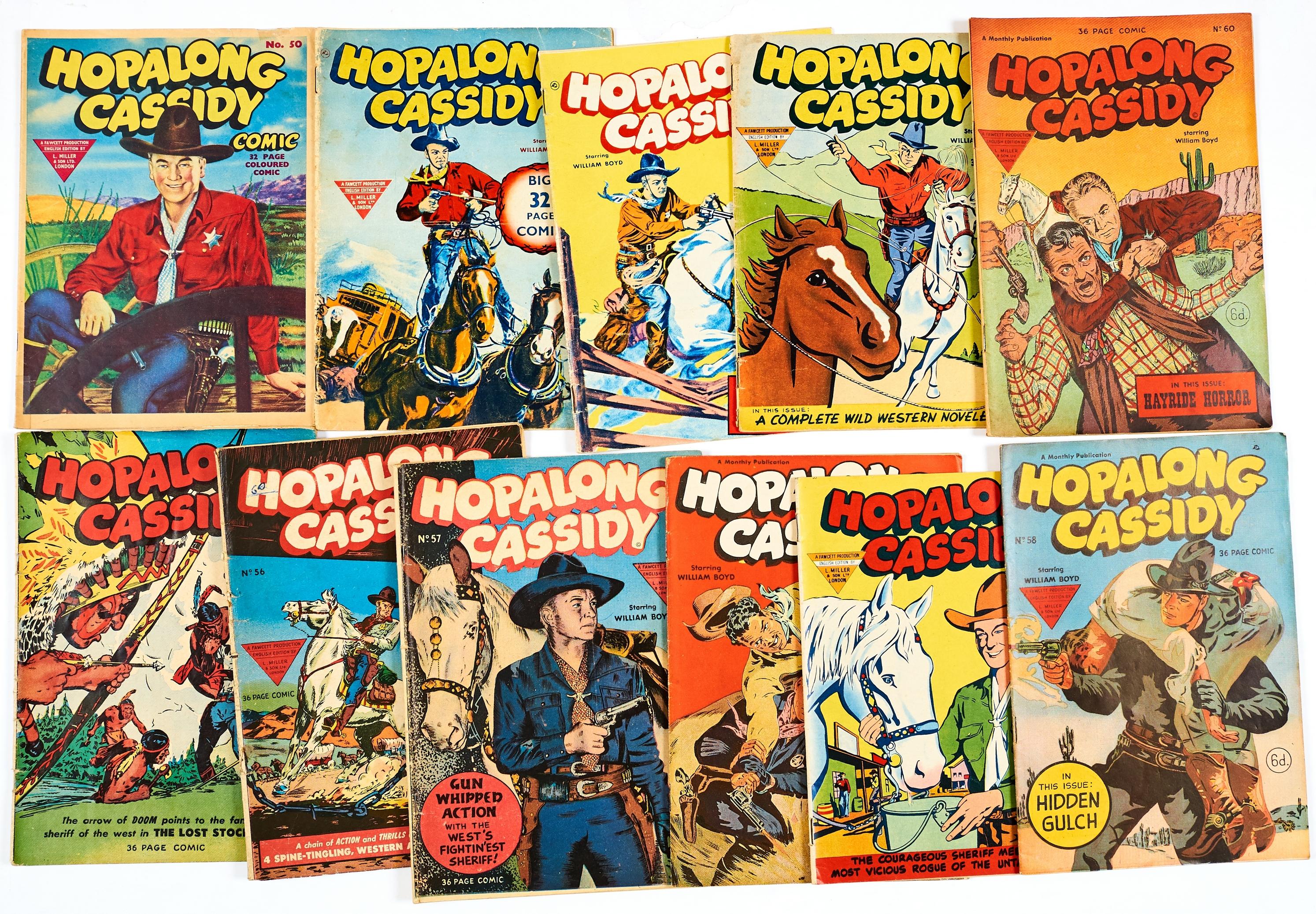 Lot 54 - Hopalong Cassidy (1950s Fawcett/L. Miller) 50-60 (Nos 1-11) [vg-/fn-] (11)