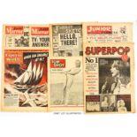 Junior Mirror (1954) 1, 3, 56, 75, Junior Express (1954) 1, 20, 55, Junior Sketch No 1 (1954),