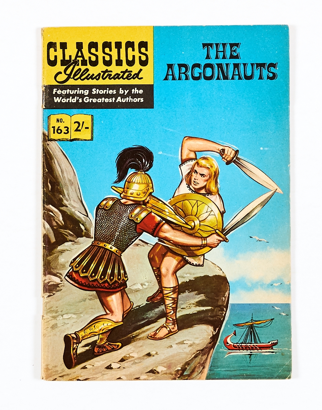Lot 48 - Classics Illustrated 163: The Argonauts (1950s) HRN 157. Only this scarce UK originated art