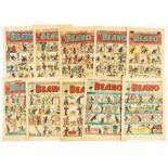 Beano (1950) 390 New Year, 397, 399, 403 Easter, 404, 409, 413, 415, 429, 432 [vg/fn-] (10)