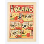 Beano No 6 (1938). Only a handful of copies known to exist. Bright cover, cream pages, top RH margin