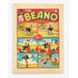 Beano No 12 (1938). Bright cover with some light margin foxing spots, cream pages, scarce [vg+]