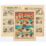 Beano No 21 (1938). First Xmas Number. First Pansy Potter by Hugh McNeill. Bright cover colours, 2