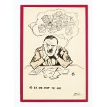 Frank Bellamy original signed sketch (1940s) 'To Be or Not To Be'. The Catering Corps Sergeant in