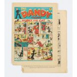 Dandy No 4 (Dec 25 1937) First Christmas issue. Bright cover colours, Lower spine insect chew to all