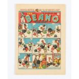 Beano 300 (1946) Xmas Comic. Shipwrecked Circus double page story by Dudley Watkins. Half inch spine