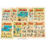 Beano (1951) 442-493. Near complete year missing issues 444 and 472. Including No 452 1st Dennis The