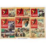 Eagle (1950-51) Vol 1: No 1-52, Vol 2: 1-52. Mostly reading copies. Vol. 1 No 1 split spine [fr],