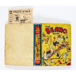 Beano Book No 1 (1940). Worn boards, hinges and near complete spine. Cream/light tan pages with