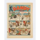 Dandy 108 (1939). Propaganda Christmas issue with Adie and Hermy looking for turkey… (you guessed