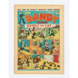 Dandy No 11 (1938). Bright covers, five sewpholes to spine (retrieved from bound volume), cream/