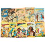 Superman Australian reprints (1950s). 88, 90, 92, 94-96, 98-101 [vg/fn-] (10)
