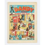 Dandy No 8 (1938). Bright covers, cream pages, some light blemishes and tiny hole to back cover [