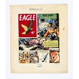 Dan Dare original front cover artwork (1959) drawn and painted by Frank Hampson for The Eagle Volume
