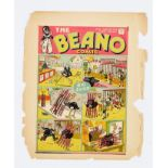 Beano No 27 (1939). Front cover Printer's proof with pink title background and light green panel
