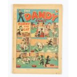 Dandy No 6 (1938). Light tan pages, clear tape to spine with quarter inch right-hand edge trim to