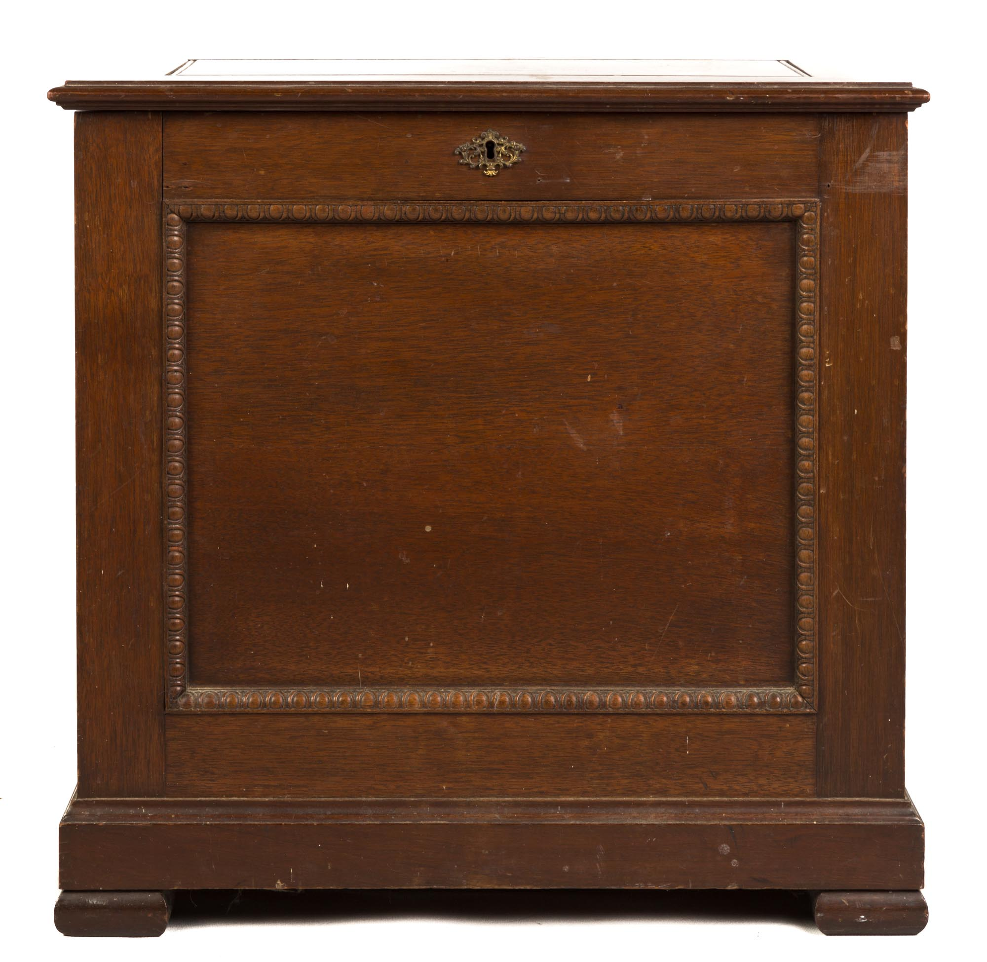 Lot 215 - Upright Criterion Double Comb Music Box. 19th century. Carved mahogany case. Additional box of (
