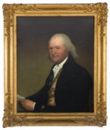 "Lot 83 - Attributed to Gilbert Stuart (American, 1755-1828) Winthrop Astor Chanler's ""Portrait of Petrus"