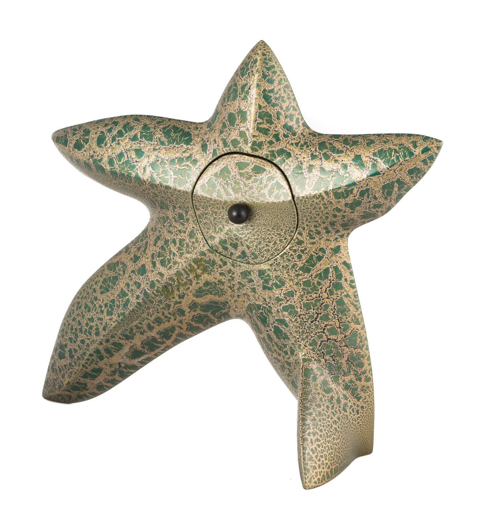 Lot 19 - Wendell Castle (American, 1932-2018) Starfish Clock. Polychrome wood with crackle finish. Signed '