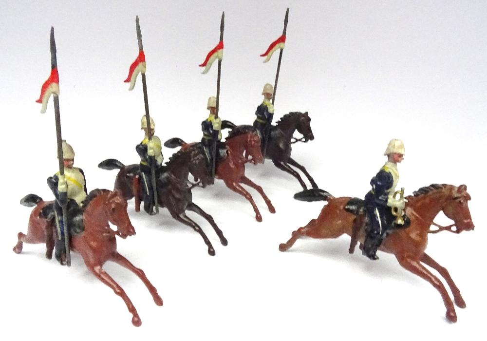 Lot 7 - Britains set 81, 17th Lancers in 'Ulundi' service dress
