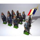 Lot 8 - Britains RARE PARIS OFFICE Chasseurs a Pied
