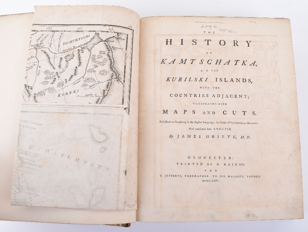 Lot 25 - The History of Kamtschatka, and the Kurilski Islands with the Countries Ajacent; illustrated with Ma