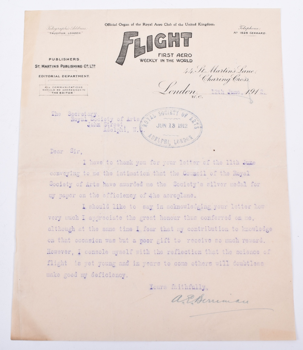 Lot 2 - Early Aviation Ephemera