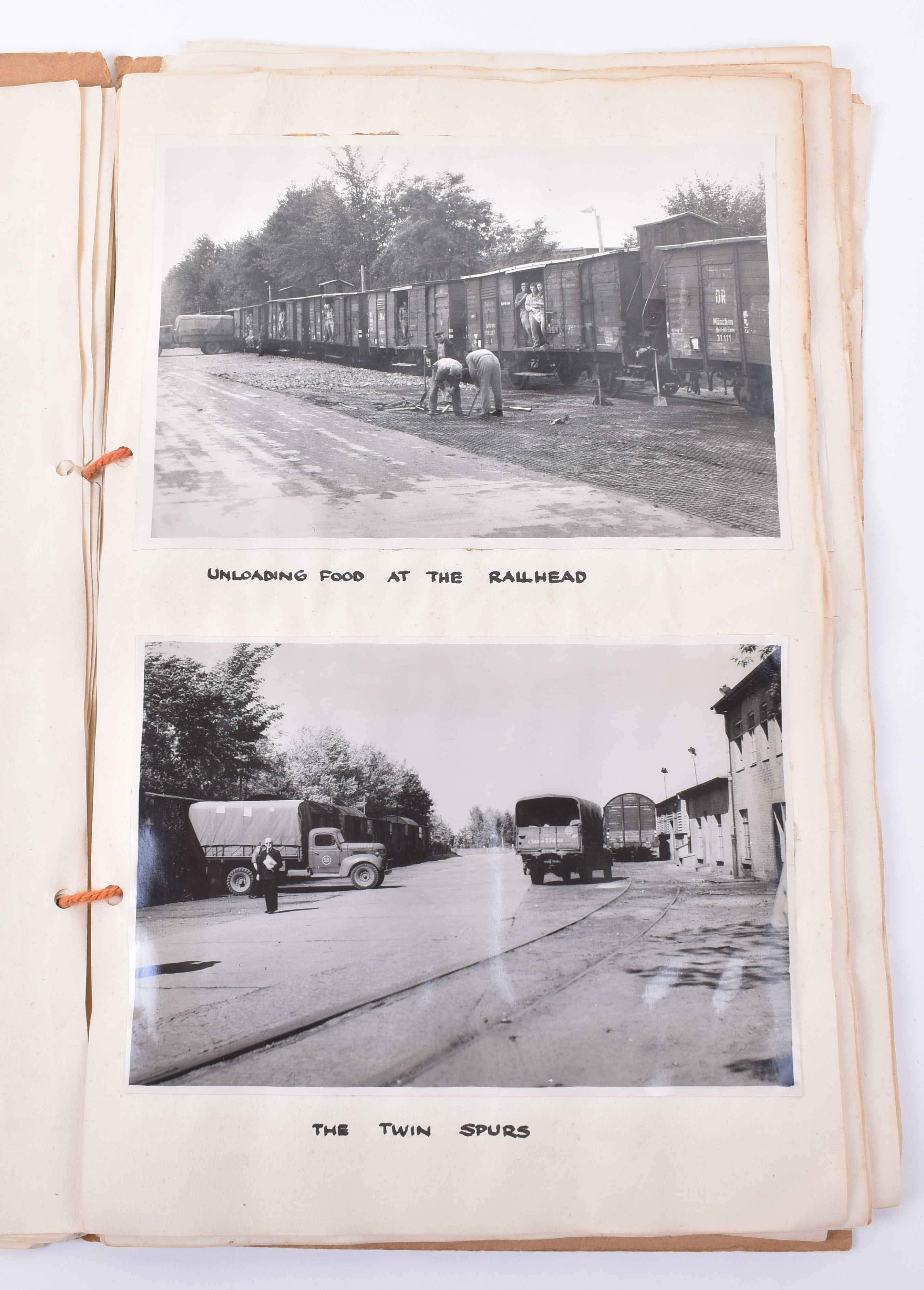 """Lot 22A - Unusual Original Photograph Album Compiled by the RAF as Part of Operation """"Plainfare"""" the Berlin Ai"""