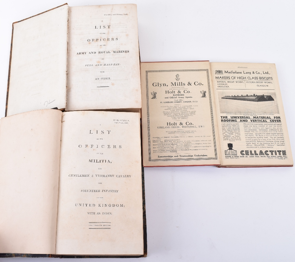 Lot 27 - A List of the Officers of the Army and Royal Marines with Index, for 1816