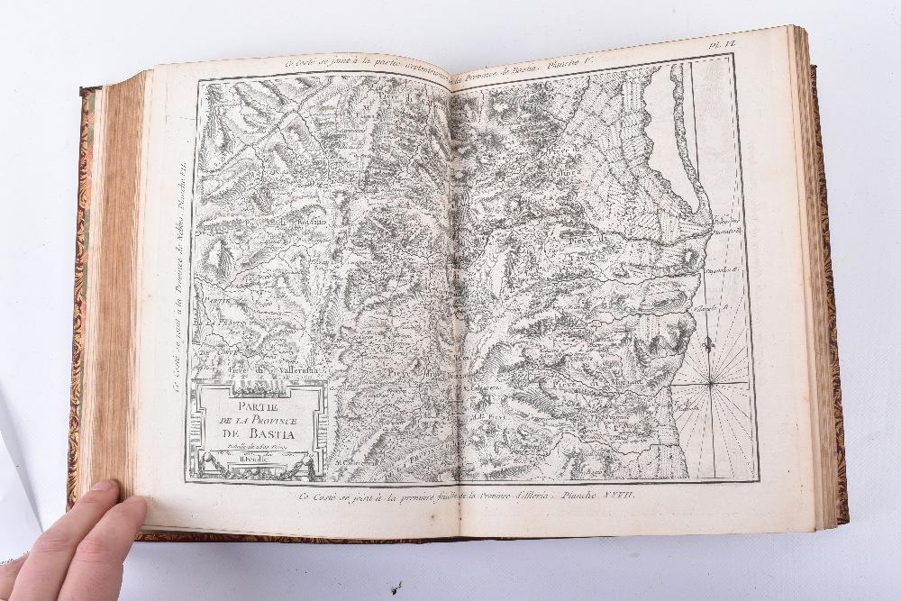 """Lot 24 - M.Bellin, """"Description Geographique et Historique De L'Isle de Corse (Corsica) pour joindre aux Cart"""