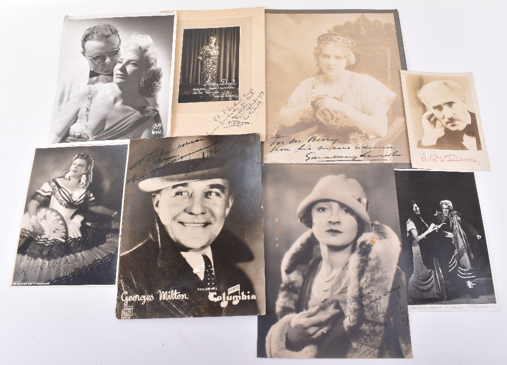 Lot 55 - Quantity of Signatures of Various Opera Performers and Composers etc