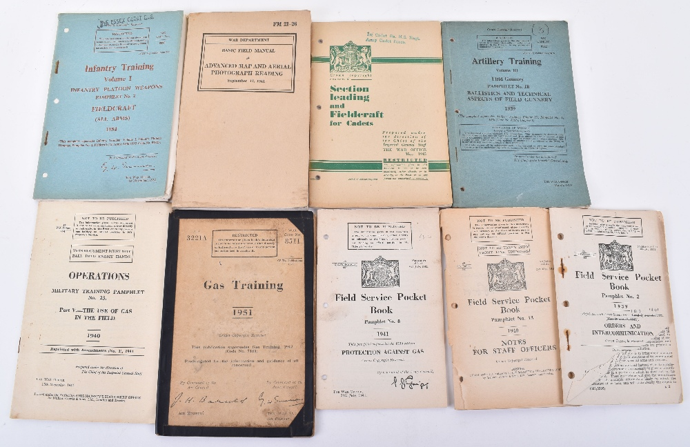Lot 48 - Large quantity of Military Manuals