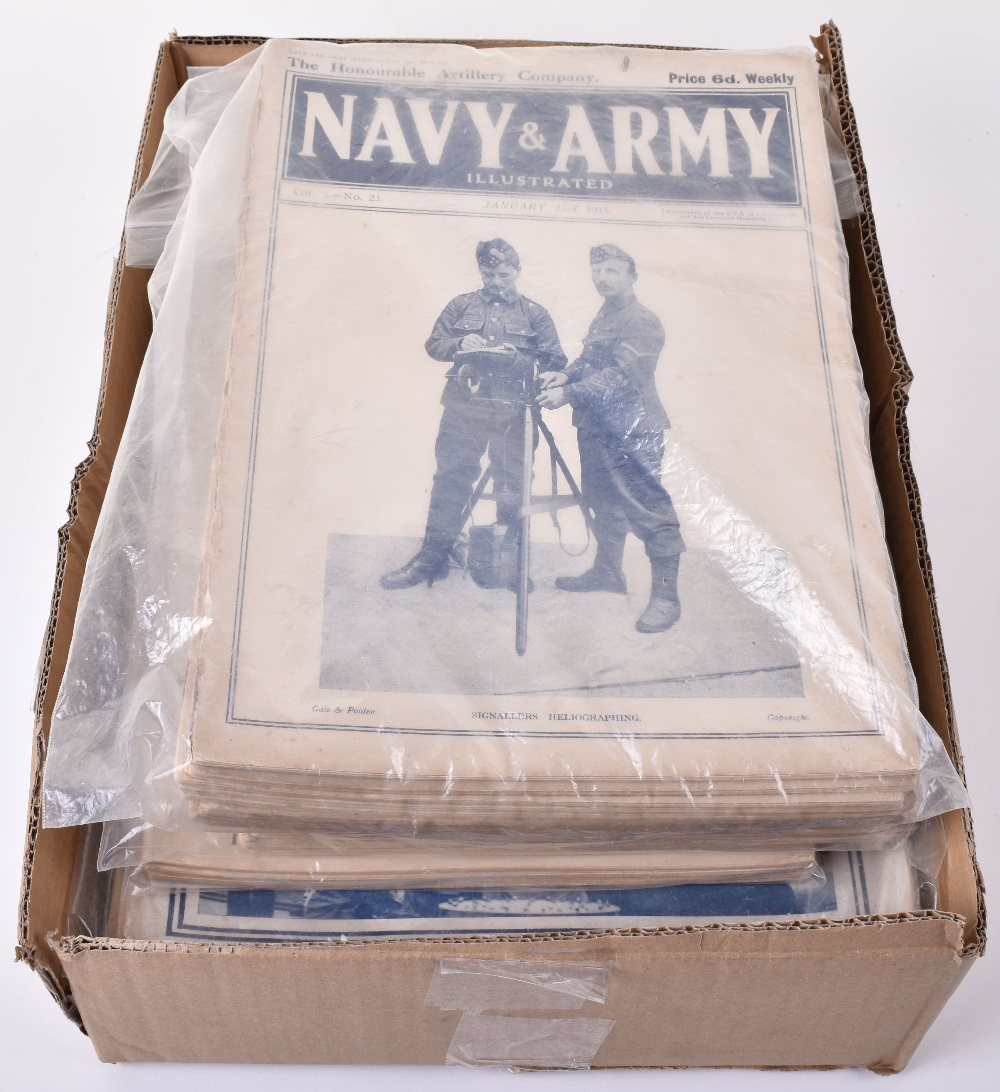 Lot 52 - Selection of Great War Navy & Army Illustrated Publications