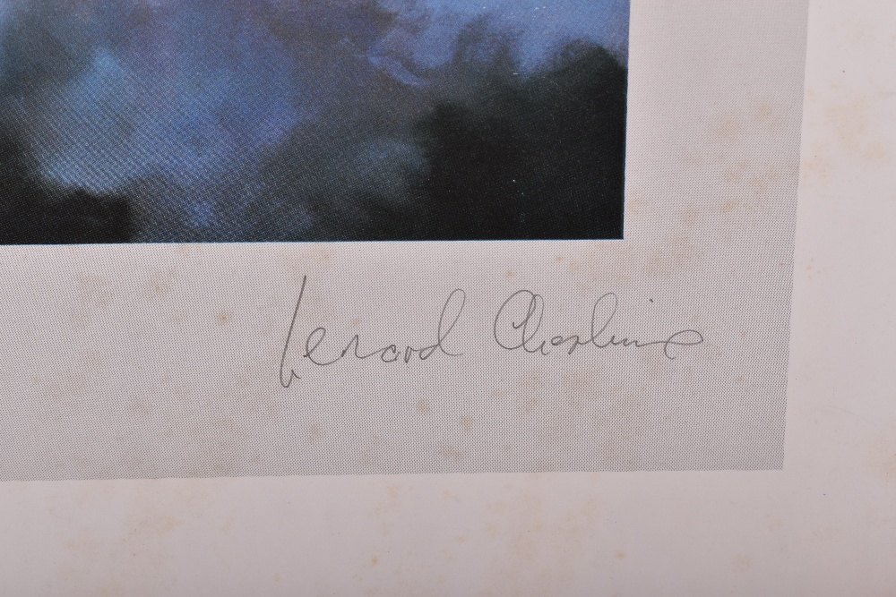 Lot 20 - Signed Aviation Print of Lancaster by Robert Taylor