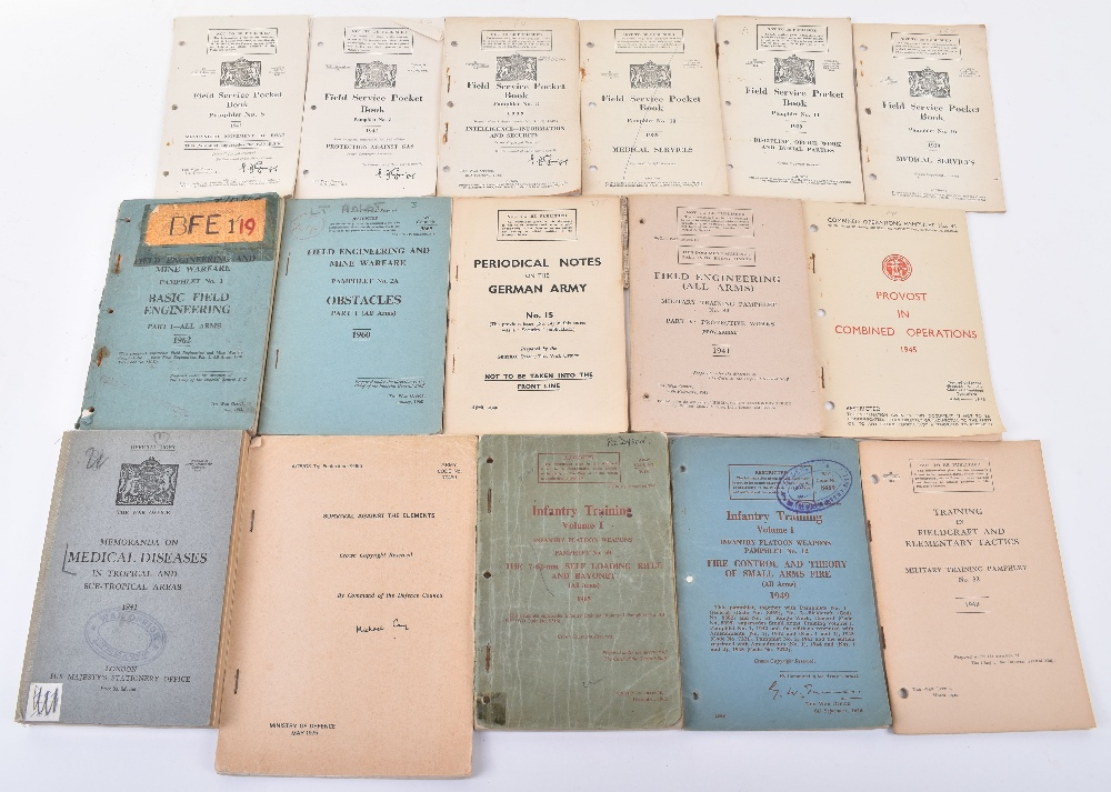 Lot 49 - Large Quantity of Military Training Manuals