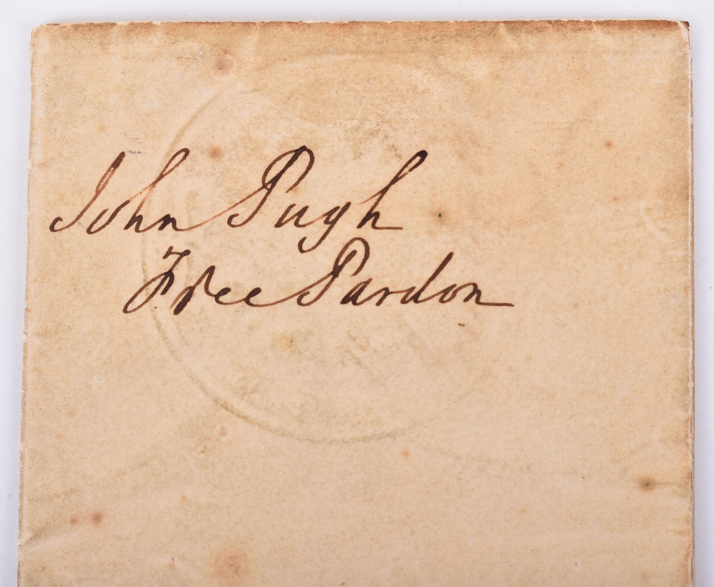 Lot 58 - Queen Victoria Signed Free Pardon Granted to a Horse Thief John Pugh