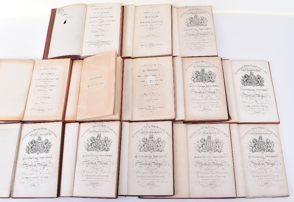 Lot 34 - Nice Collection of Historical Records of Various Regiments by Richard Cannon