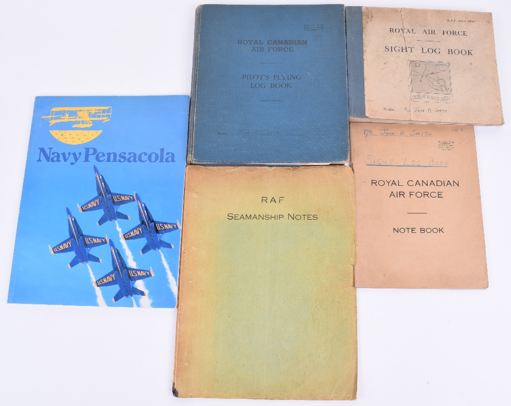 Lot 16 - Royal Canadian Air Force Pilots Flying Log Book