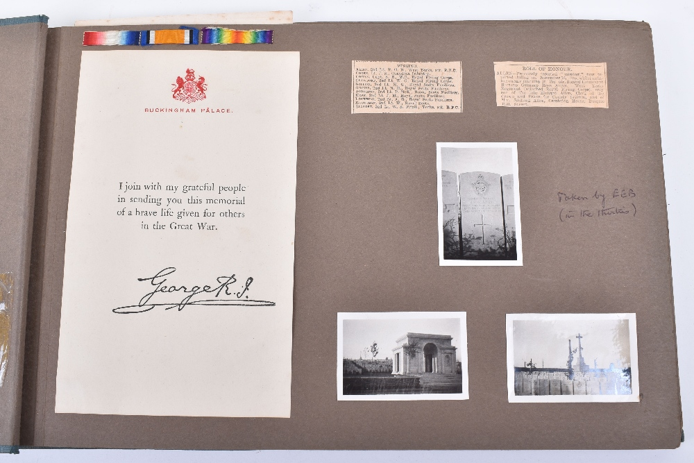 Lot 7 - Important Royal Flying Corps Photograph Album for Second Lieutenant Richard Gerrard Ross Allen, late