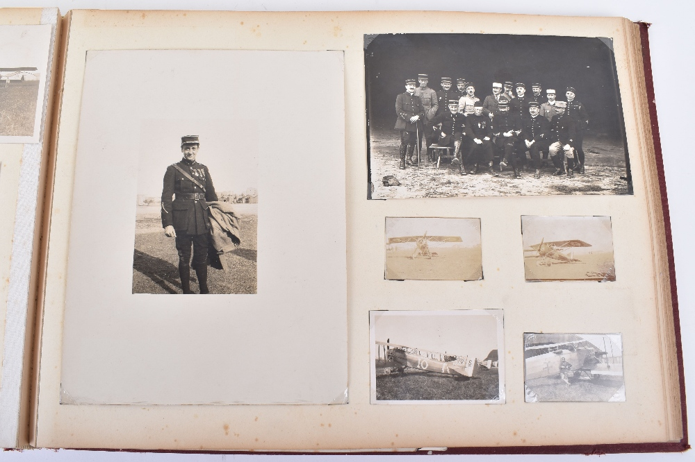 Lot 6 - Excellent French Photograph Album, Letters and Cards of Great War Pilot, Georges Barberot