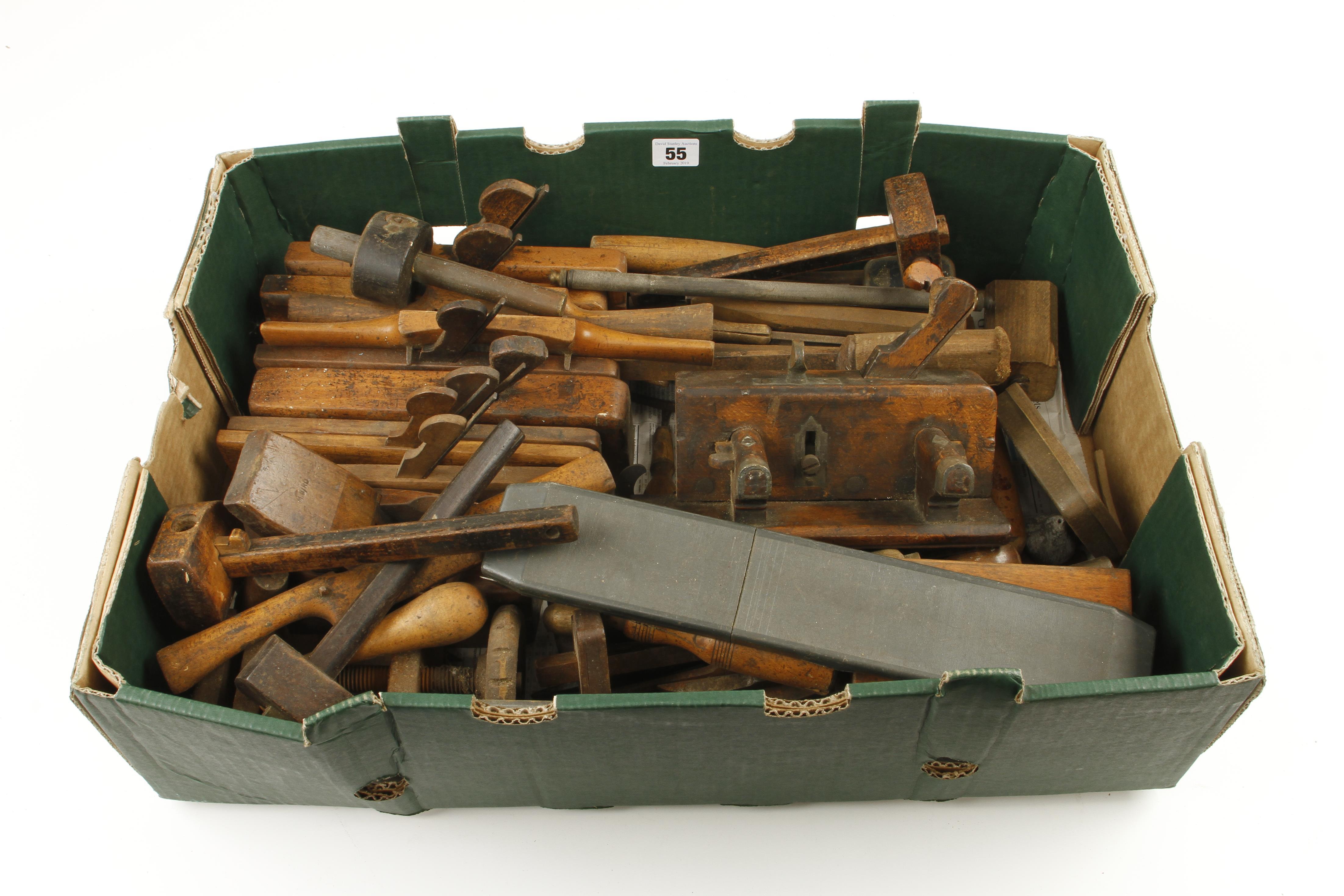 Lot 55 - A box of tools G