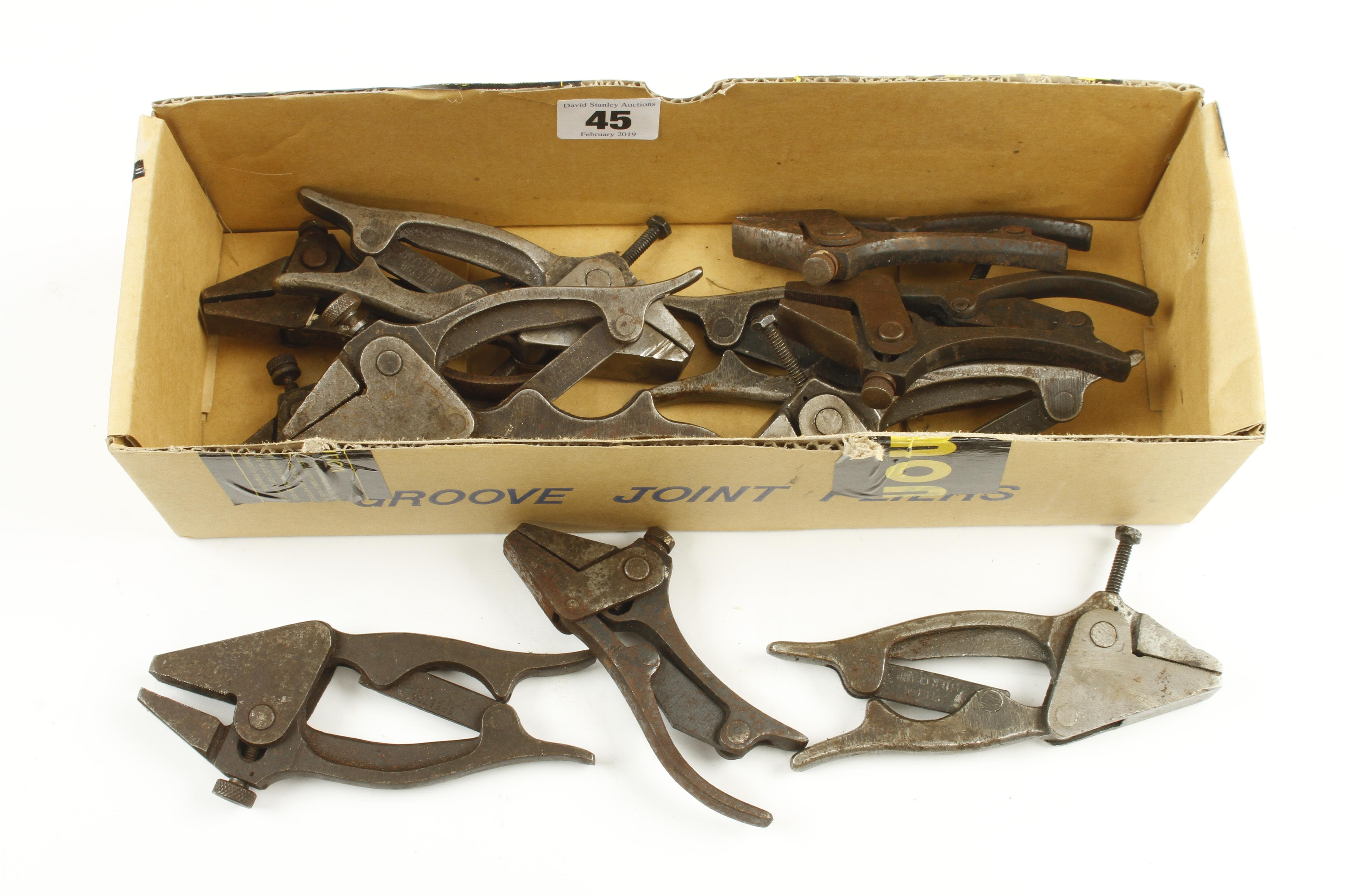 Lot 45 - 11 SPEETOG plier clamps G