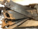 Lot 20 - Ten hand saws G