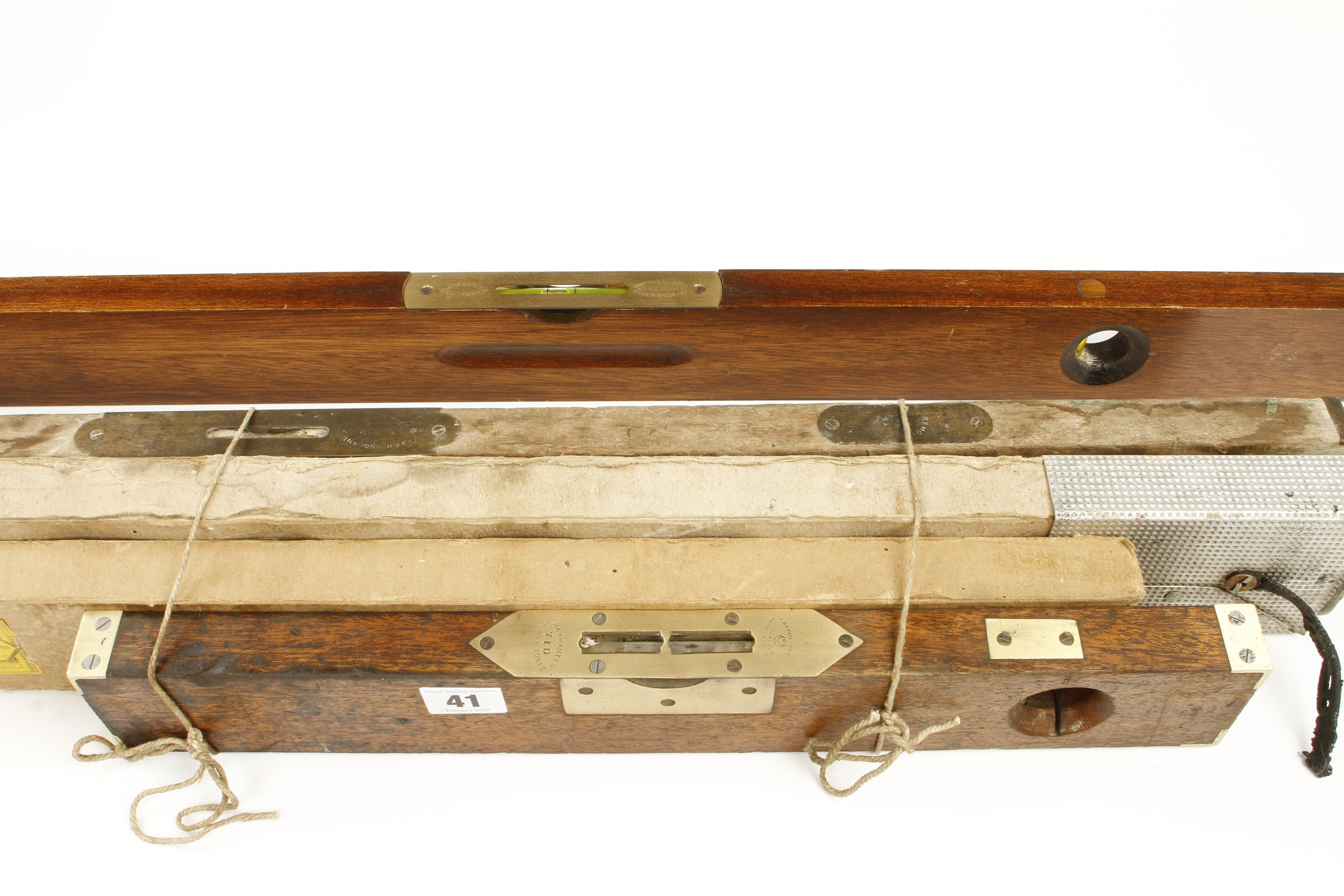 Lot 41 - Four wood levels by MATHIESON and RABONE etc G