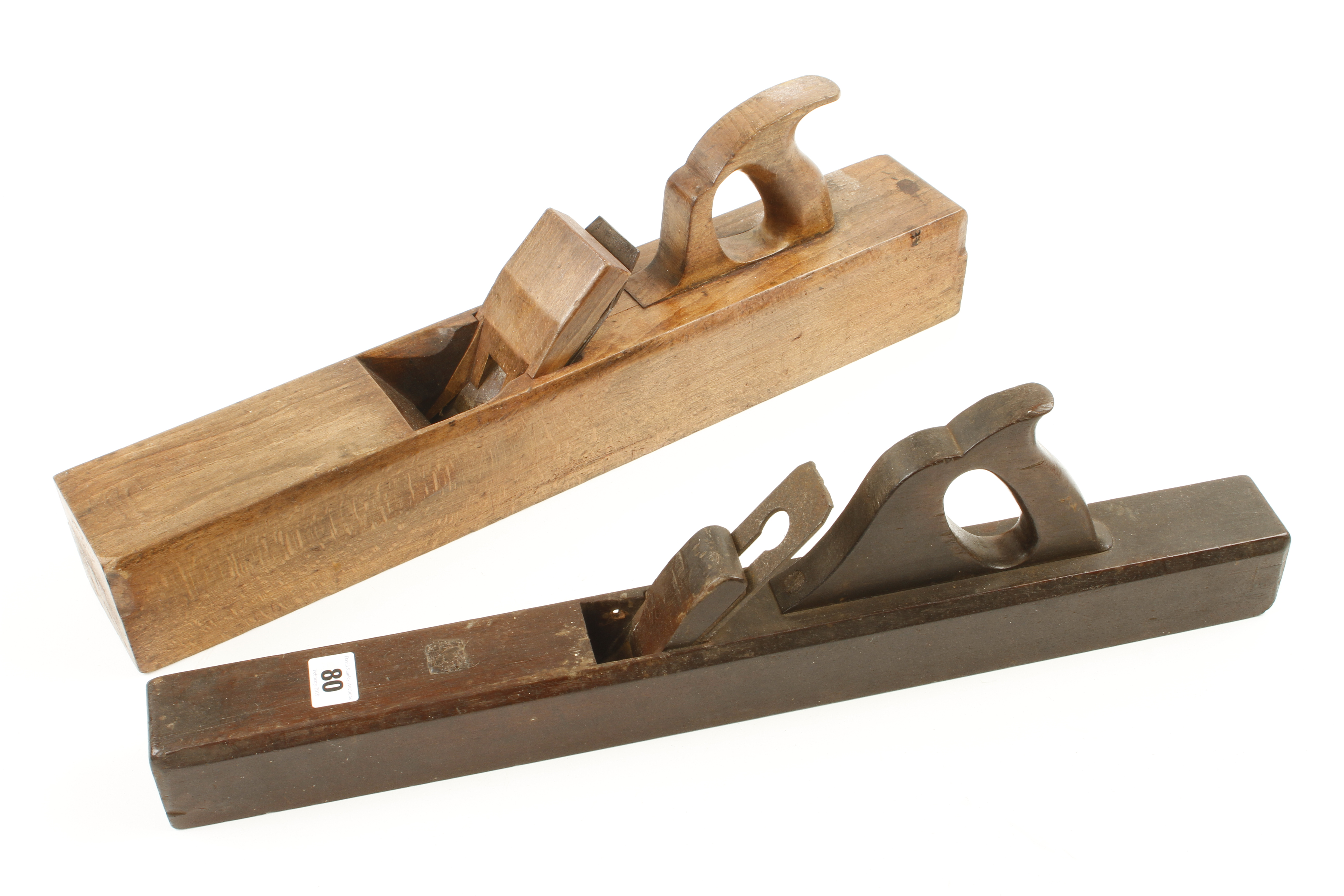 """Lot 80 - A 22"""" beech jointer by MATHIESON and a European mahogany jointer G"""