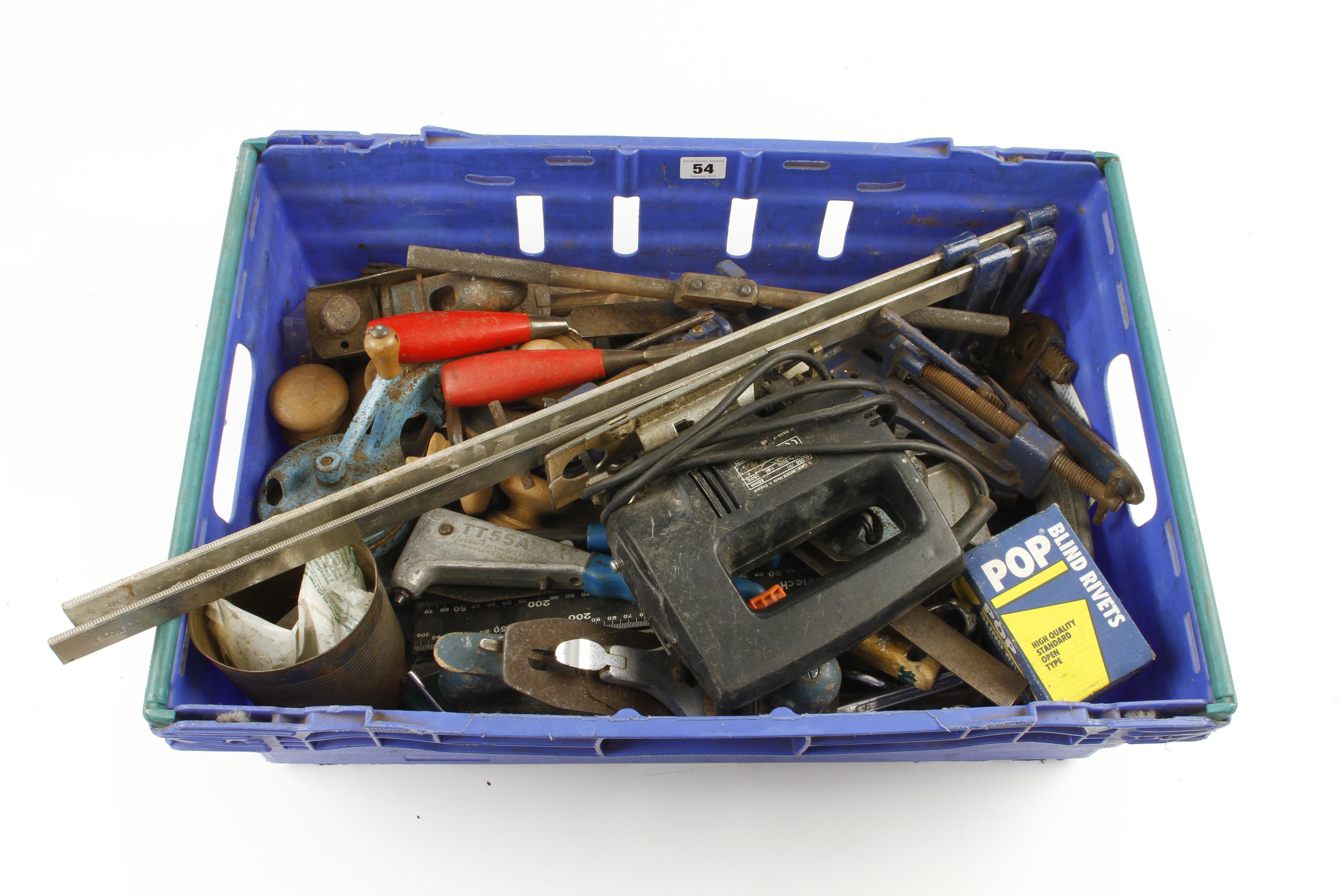 Lot 54 - A box of tools G