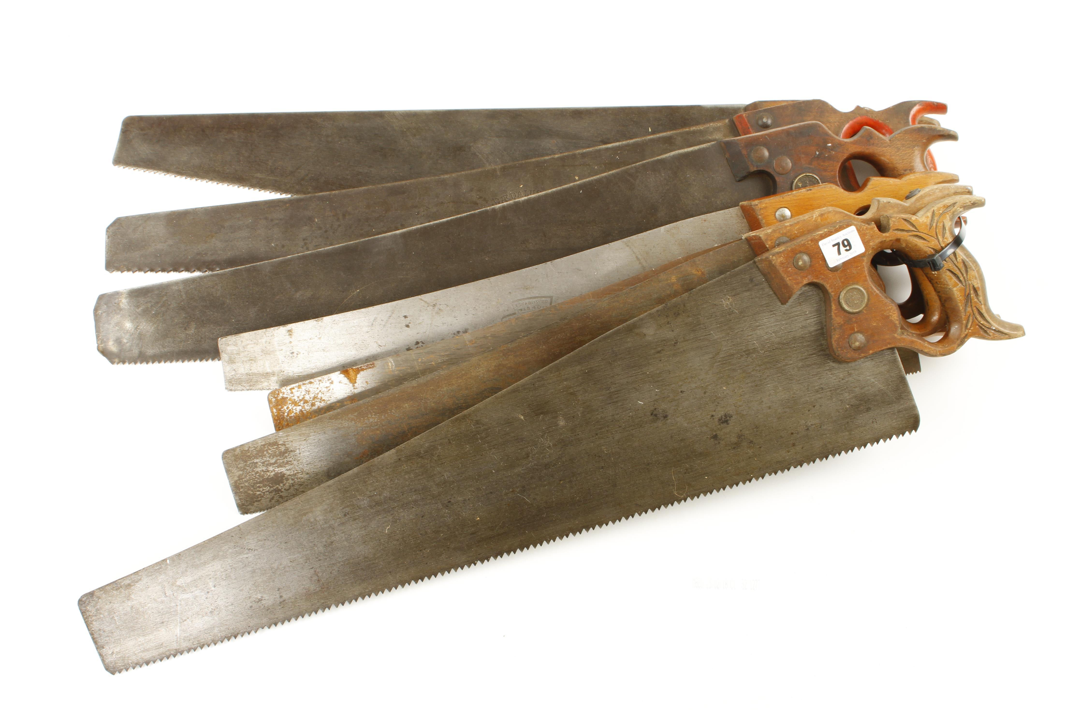 Lot 79 - Seven saws G