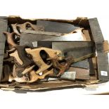 Lot 12 - Five brass backed saws and ten others some rust G-