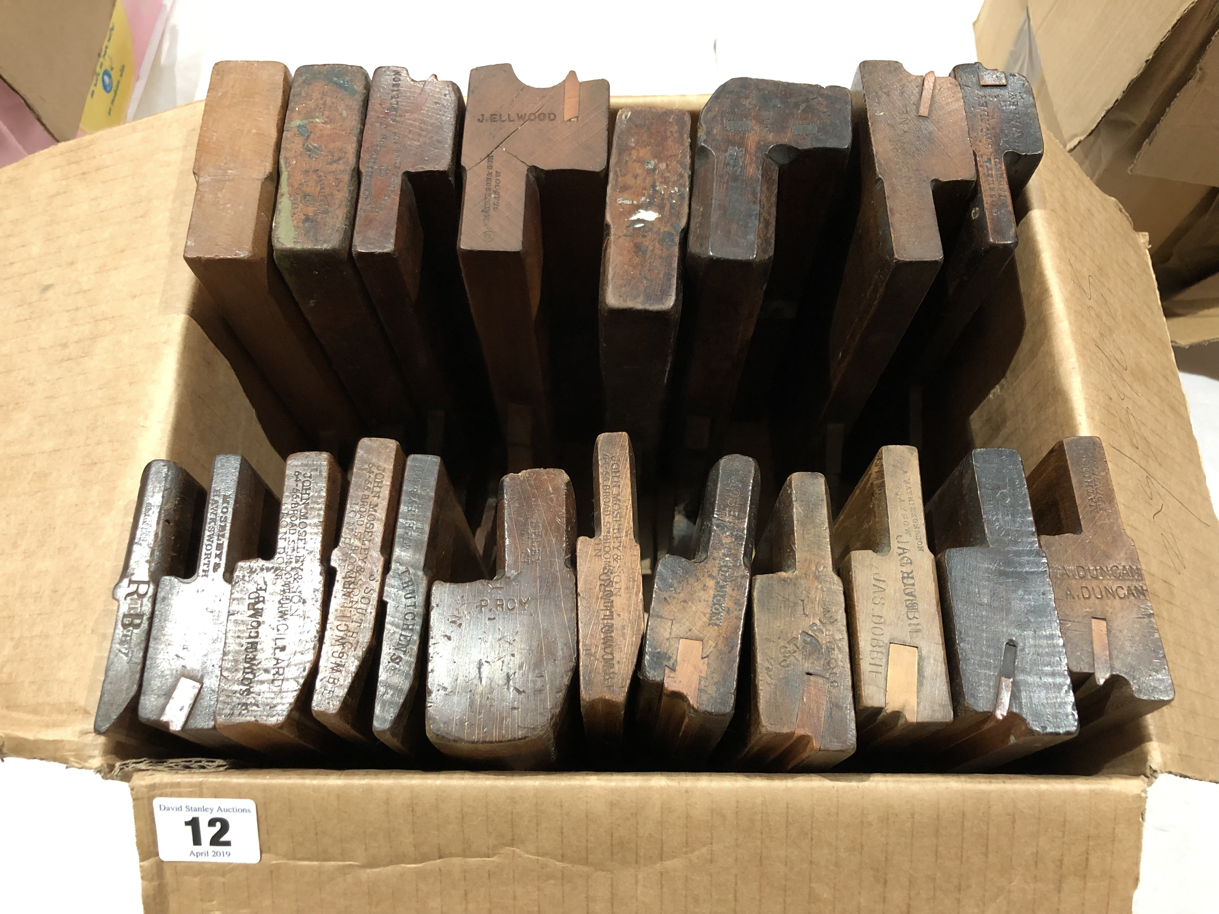 Lot 12 - 20 moulding planes by MATHIESON and MOSELEY G